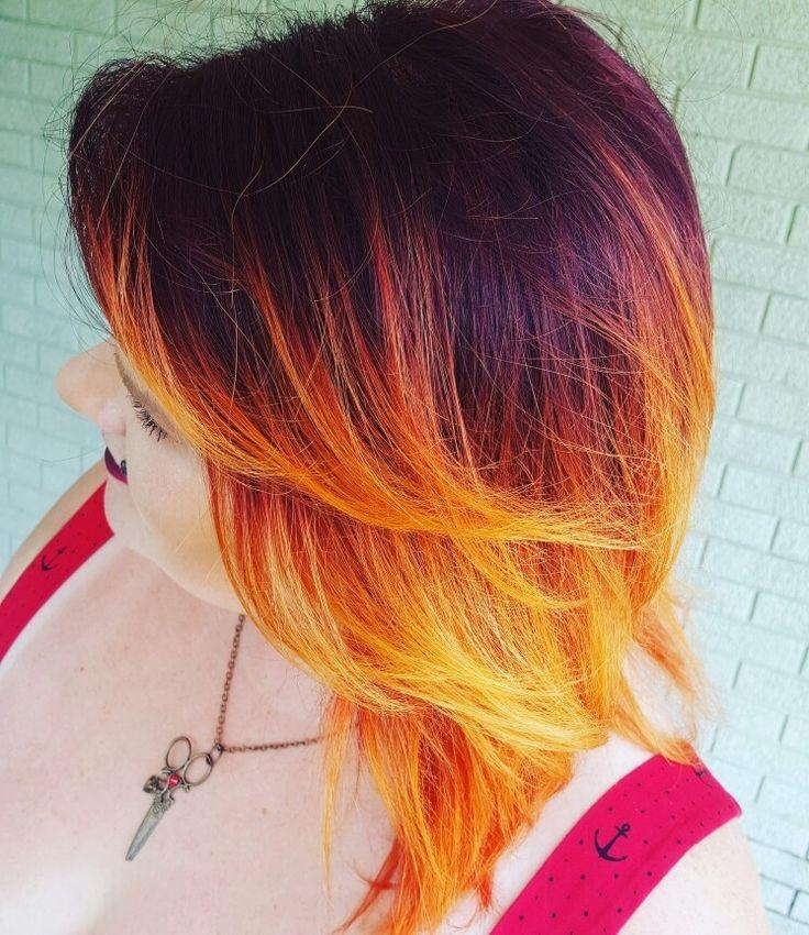 Best 25+ Ombre On Short Hair Ideas On Pinterest | Short Balayage Throughout Fire Red Short Hairstyles (View 9 of 20)