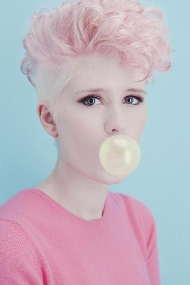 Best 25+ Pink Short Hair Ideas On Pinterest | Short Lilac Hair Within Pink Short Hairstyles (View 4 of 20)