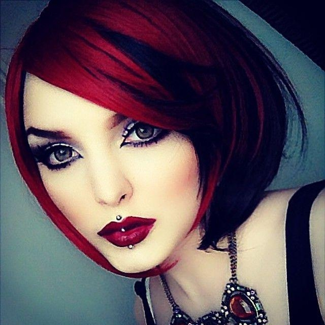 Photo Gallery Of Red And Black Short Hairstyles Viewing 3 Of 20 Photos