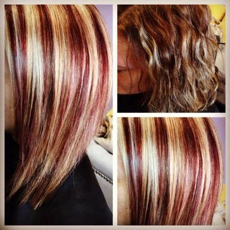 Best 25+ Red Blonde Highlights Ideas On Pinterest   Fall Hair Inside Short Haircuts With Red And Blonde Highlights (View 7 of 20)