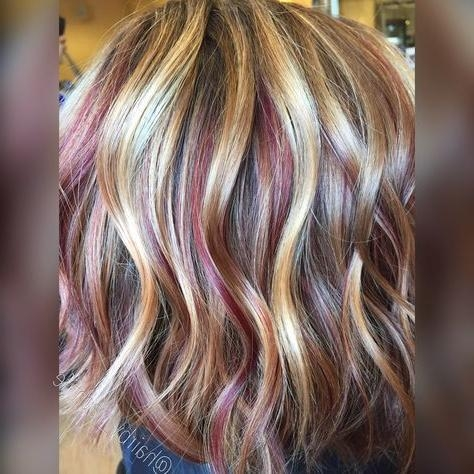Best 25+ Red Blonde Highlights Ideas On Pinterest | Fall Hair Within Short Haircuts With Red And Blonde Highlights (View 8 of 20)
