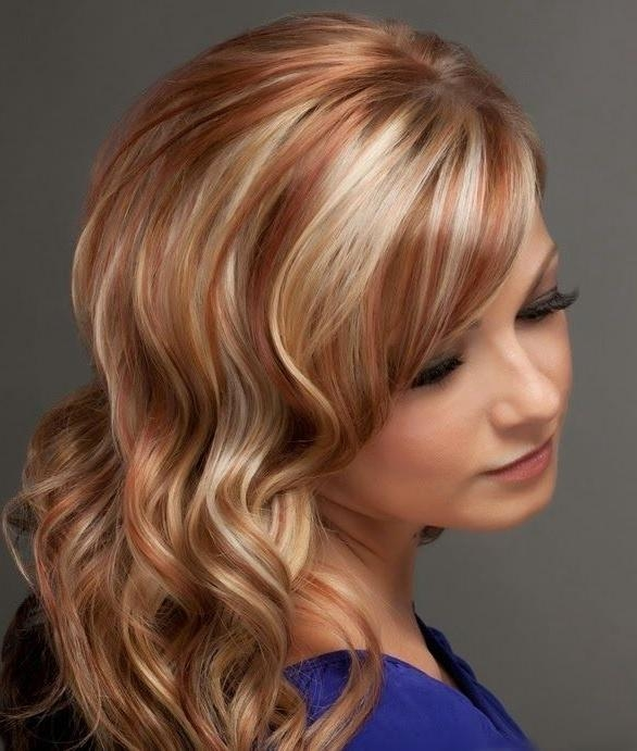 Photo Gallery Of Short Haircuts With Red And Blonde Highlights