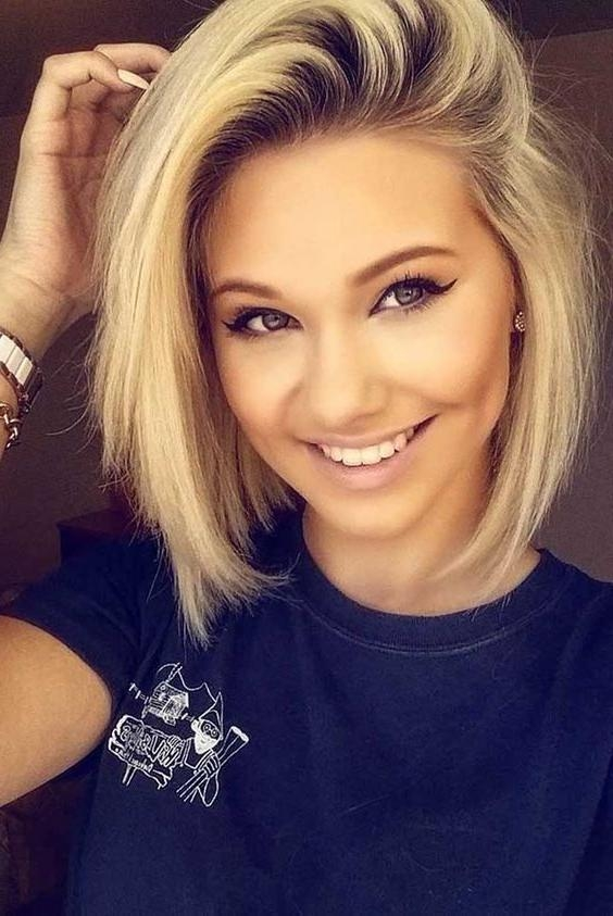 Best 25+ Round Face Hairstyles Ideas On Pinterest | Hairstyles For In Short Haircuts Ideas For Round Faces (View 18 of 20)