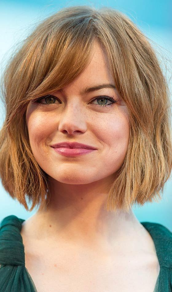 Best 25+ Round Face Short Hair Ideas On Pinterest | Short Hair Intended For Short Hairstyles With Bangs And Layers For Round Faces (View 16 of 20)