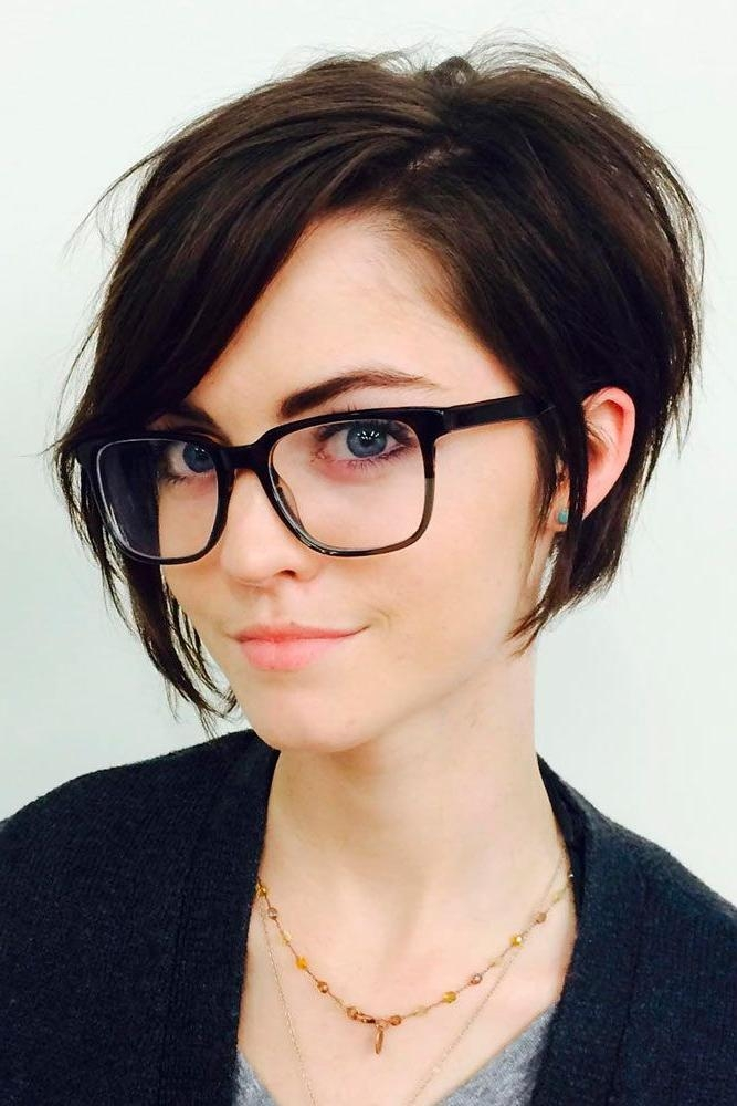 20 Best Collection Of Short Hairstyles For Round Faces And Glasses