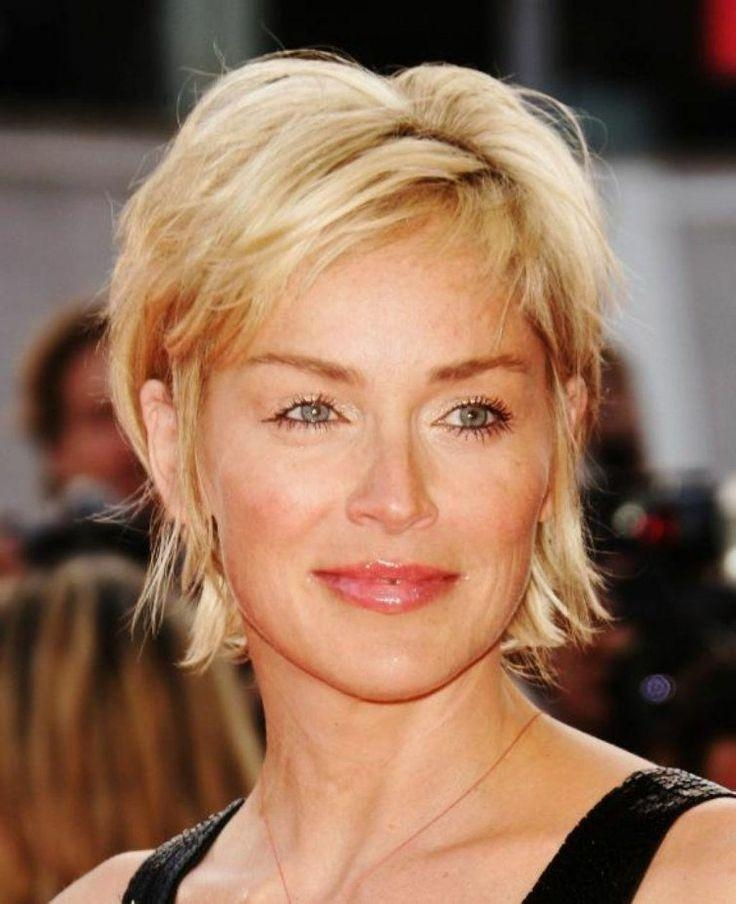 Best 25+ Sharon Stone Hair Ideas On Pinterest | Sharon Stone Short Inside Sharon Stone Short Haircuts (View 16 of 20)