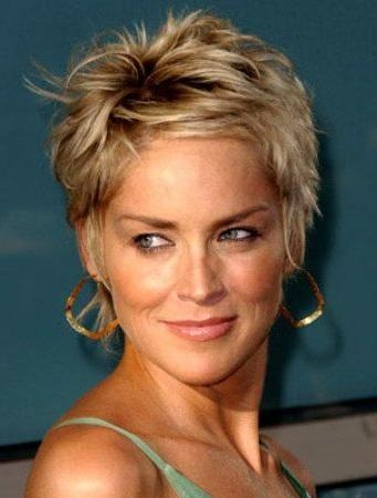 Best 25+ Sharon Stone Hairstyles Ideas On Pinterest | Sharon Stone Pertaining To Sharon Stone Short Haircuts (View 3 of 20)