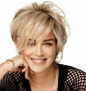 Best 25+ Sharon Stone Short Hair Ideas On Pinterest | Sharon Stone With Short Hairstyles That Make You Look Younger (View 10 of 20)