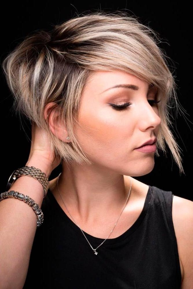 Best 25+ Short Asymmetrical Hairstyles Ideas On Pinterest Pertaining To Asymmetrical Short Haircuts For Women (View 2 of 20)