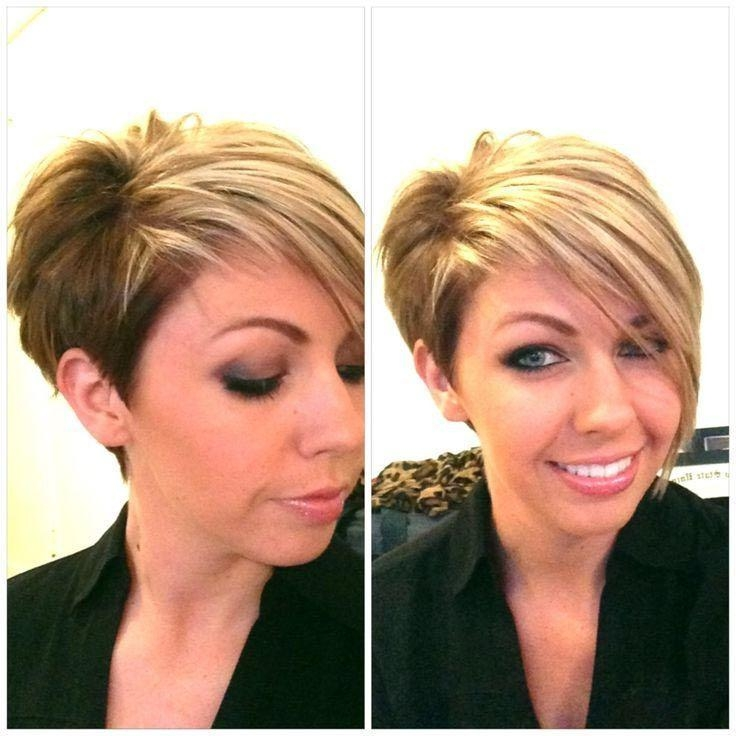Best 25+ Short Asymmetrical Hairstyles Ideas On Pinterest Pertaining To Asymmetrical Short Hairstyles (View 12 of 20)