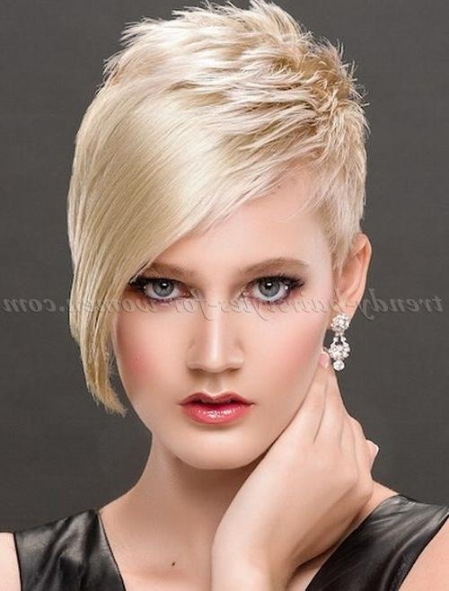 Best 25+ Short Asymmetrical Hairstyles Ideas On Pinterest | Pixie Pertaining To Asymmetric Short Haircuts (View 2 of 20)