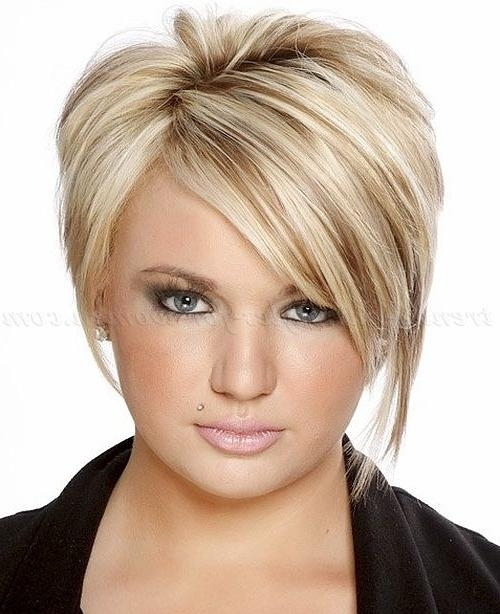 Best 25+ Short Asymmetrical Hairstyles Ideas On Pinterest Within Ladies Short Hairstyles With Fringe (View 10 of 20)