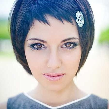 Best 25+ Short Bangs Hairstyles Ideas On Pinterest | Short Fringe In Ladies Short Hairstyles With Fringe (View 11 of 20)