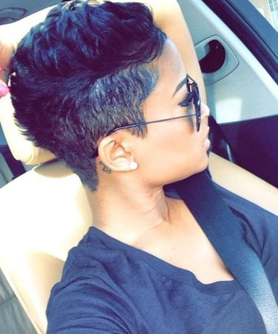 Best 25+ Short Black Hairstyles Ideas On Pinterest | Short Cuts Within Black Hairstyles Short Haircuts (View 3 of 20)
