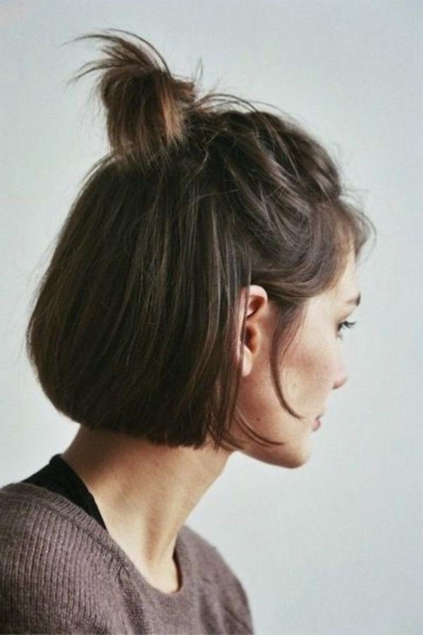 Best 25+ Short Brunette Hairstyles Ideas On Pinterest | Bob For Brunette Short Hairstyles (View 9 of 20)
