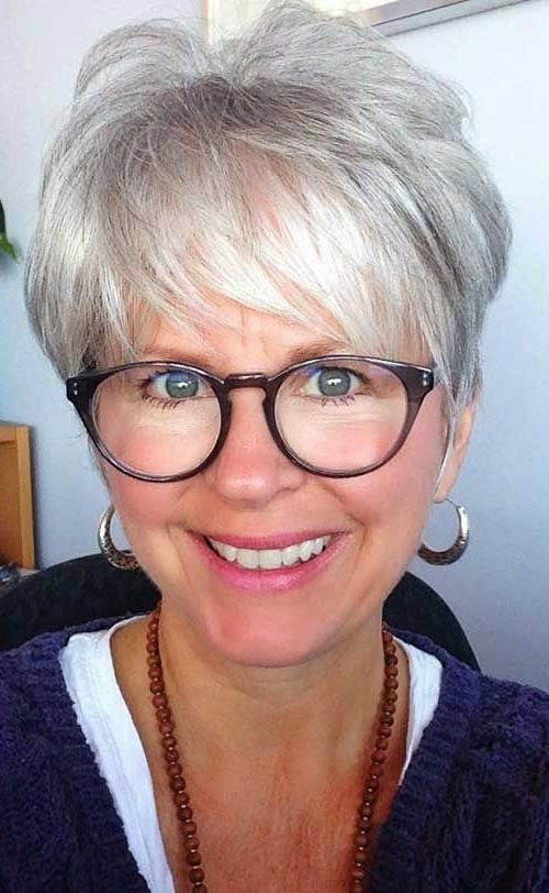 Best 25+ Short Gray Hairstyles Ideas On Pinterest | Short Gray For Short Hairstyles For Grey Haired Woman (View 9 of 20)