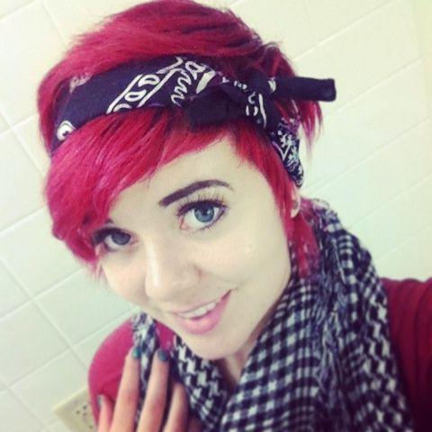 Best 25+ Short Hair Bandana Ideas On Pinterest | Rockabilly Short In Short Hairstyles With Bandanas (View 13 of 20)