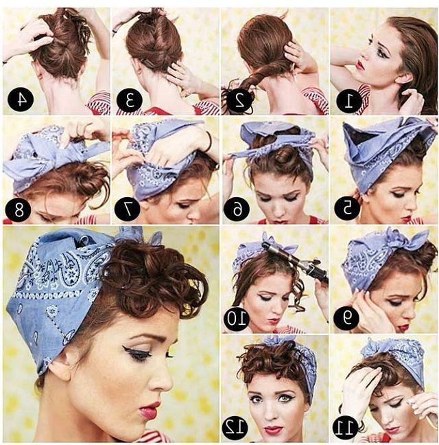 Best 25+ Short Hair Bandana Ideas On Pinterest | Rockabilly Short Regarding Short Hairstyles With Bandanas (View 11 of 20)