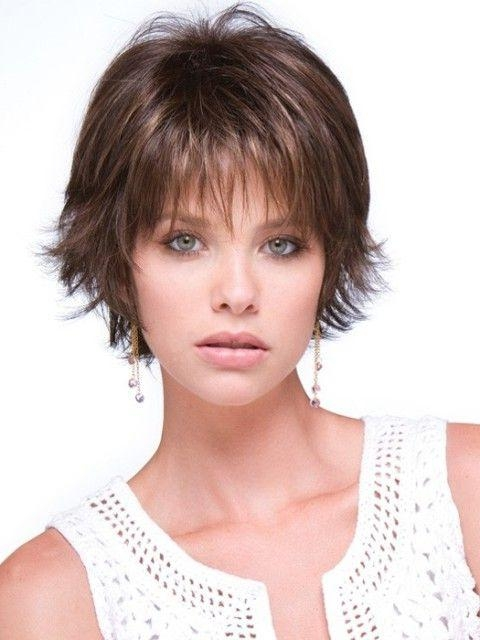 Best 25+ Short Hair Cuts For Fine Thin Hair Ideas On Pinterest Throughout Short Hairstyles For Thin Hair And Round Faces (View 3 of 20)