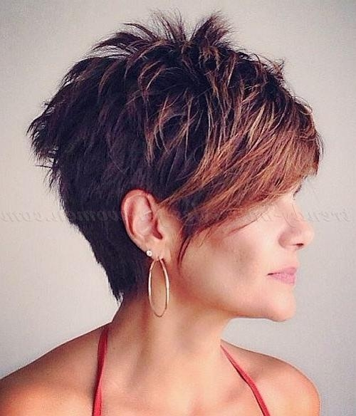 Best 25+ Short Hair Long Bangs Ideas On Pinterest | Long Pixie In Short Haircuts With Long Fringe (View 2 of 20)