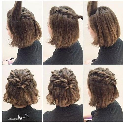 Best 25+ Short Hair Updo Ideas On Pinterest | Short Hair Wedding Within Updo Short Hairstyles (View 8 of 20)