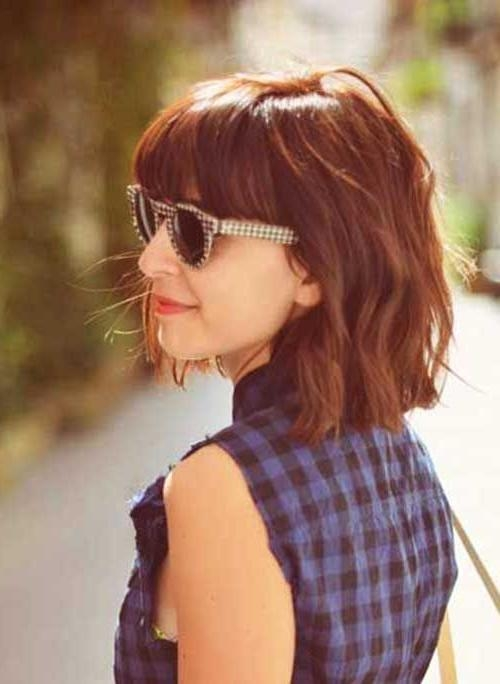Best 25+ Short Hair With Bangs Ideas On Pinterest | Bangs Short Intended For Short Haircuts With Bangs And Glasses (View 17 of 20)