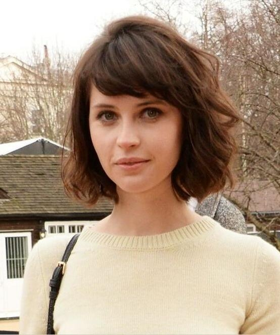 Best 25+ Short Hair With Bangs Ideas On Pinterest | Long Bob Regarding Short Hairstyles With Fringe (View 11 of 20)