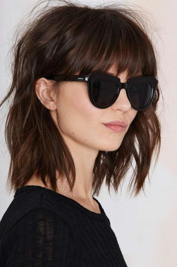 Best 25+ Short Hairstyles With Bangs Ideas On Pinterest | Short Regarding Short Hairstyles With Fringe (View 12 of 20)