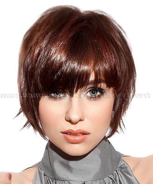 Best 25+ Short Hairstyles With Fringe Ideas On Pinterest Throughout Ladies Short Hairstyles With Fringe (View 14 of 20)
