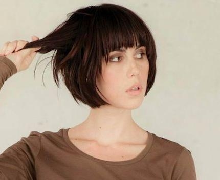 Best 25+ Short Hairstyles With Fringe Ideas On Pinterest Within Short Haircuts With Full Bangs (View 10 of 20)