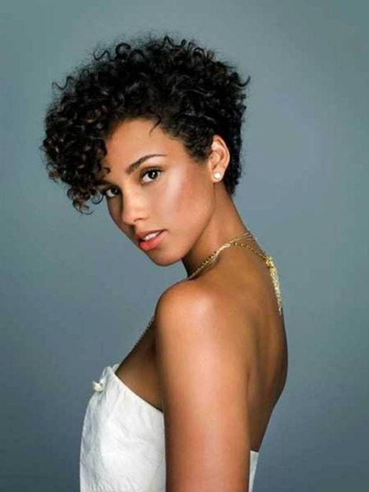 Best 25+ Short Natural Curly Hairstyles Ideas On Pinterest | Cute Inside Short Haircuts For Curly Black Hair (View 12 of 20)
