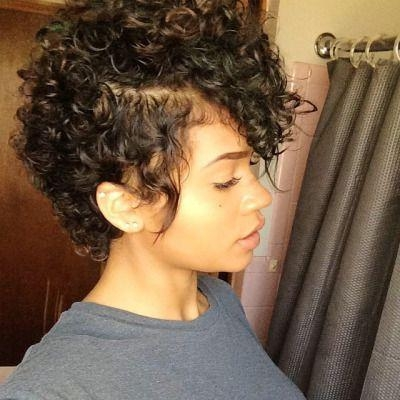 Best 25+ Short Natural Curly Hairstyles Ideas On Pinterest | Cute Regarding Curly Black Short Hairstyles (View 10 of 20)