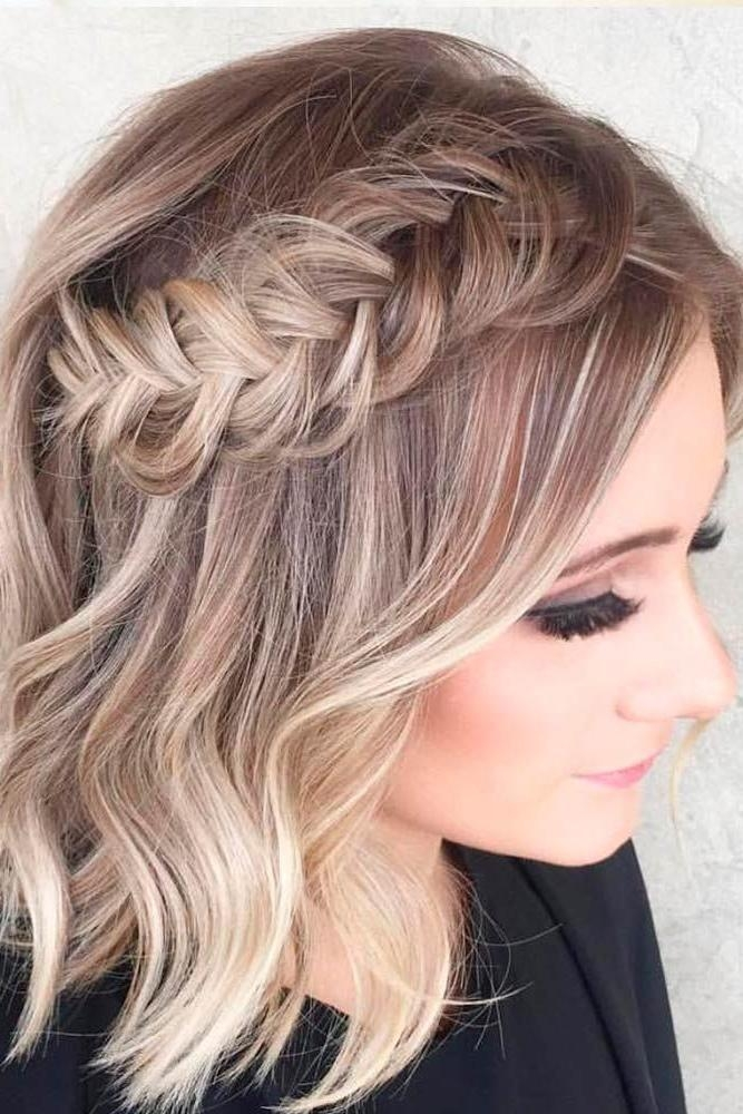 Best 25+ Short Prom Hair Ideas On Pinterest | Short Hair Prom Inside Homecoming Short Hairstyles (View 8 of 20)