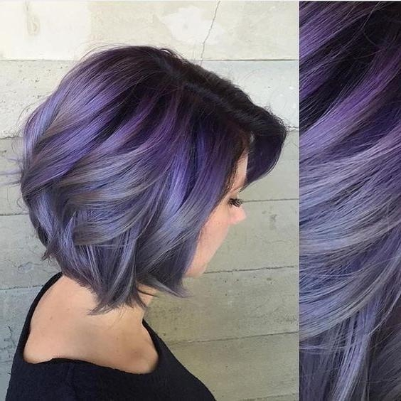 Best 25+ Short Purple Hair Ideas On Pinterest | Short Lilac Hair Throughout Purple And Black Short Hairstyles (View 8 of 20)