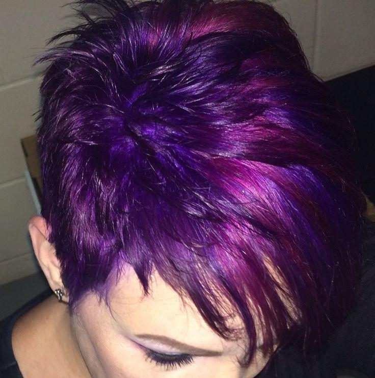 Best 25+ Short Purple Hair Ideas On Pinterest | Short Lilac Hair With Purple And Black Short Hairstyles (View 9 of 20)