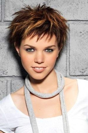photo gallery of choppy short hairstyles for older women