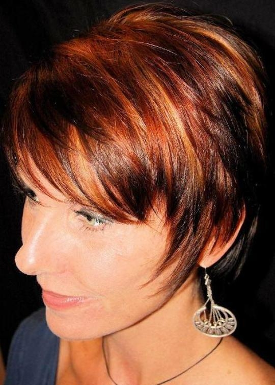 Best 25+ Short Red Hair Color With Highlights Ideas On Pinterest Pertaining To Short Haircuts With Red And Blonde Highlights (View 16 of 20)