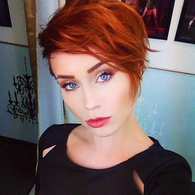 Best 25+ Short Red Hair Ideas On Pinterest | Ombre Short Hair Red Regarding Short Hairstyles For Red Hair (View 8 of 20)