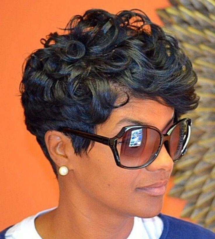 Best 25+ Short Relaxed Hairstyles Ideas On Pinterest | Black Hair Inside Short Haircuts Styles For Black Hair (View 15 of 20)