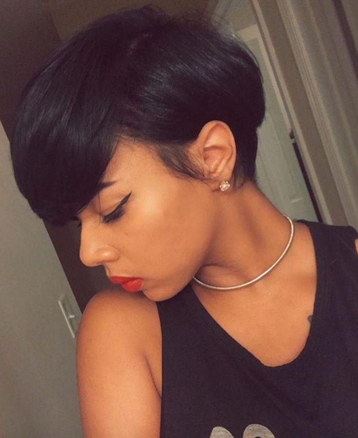 Best 25+ Short Relaxed Hairstyles Ideas On Pinterest | Black Hair Regarding Short Haircuts Styles For Black Hair (View 16 of 20)
