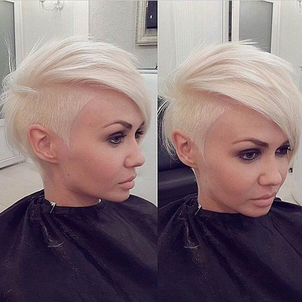 Best 25+ Short Shaved Hairstyles Ideas On Pinterest | Shaved Hair With Short Haircuts With Shaved Side (View 11 of 20)