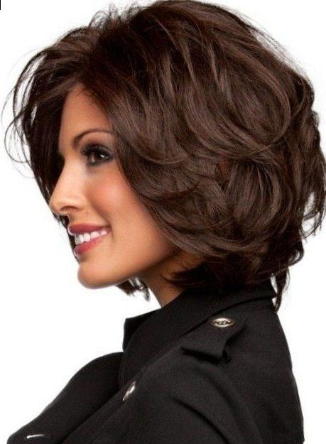 hair thick bangs short haircuts hairstyles low maintenance bob oval sassy faces wavy face intended latest inflexa