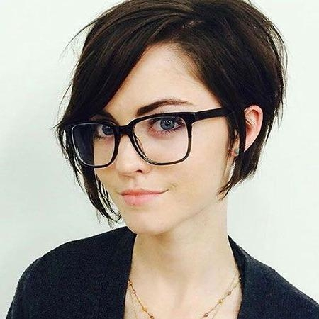 Photo Gallery Of Short Haircuts For Thick Hair With Bangs Viewing