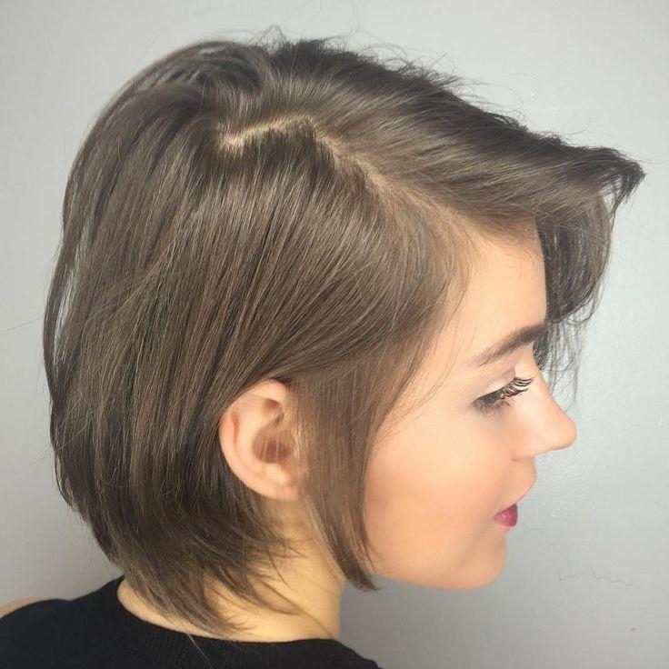 Best 25+ Short Thin Hair Ideas On Pinterest | Short Hairstyles For Intended For Short Haircuts That Cover Your Ears (View 10 of 20)