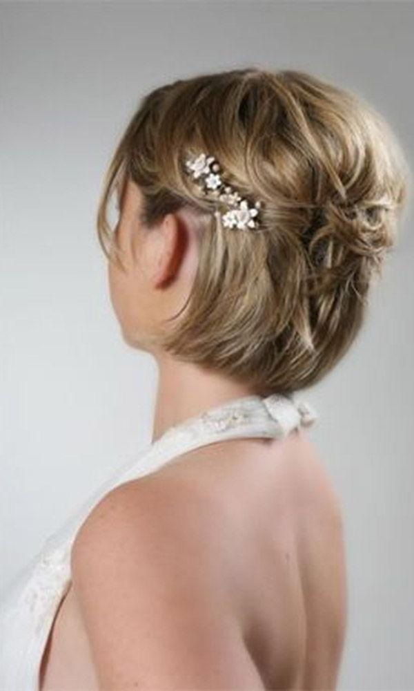 Best 25+ Short Wedding Hairstyles Ideas On Pinterest | Wedding Regarding Short Hairstyles For Weddings For Bridesmaids (View 11 of 20)
