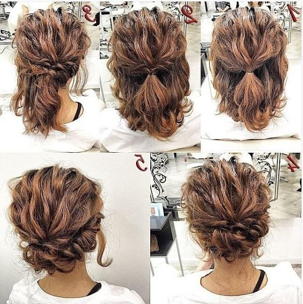 Best 25+ Updo For Short Hair Ideas On Pinterest | Short Hair Updo For Updo Short Hairstyles (View 9 of 20)