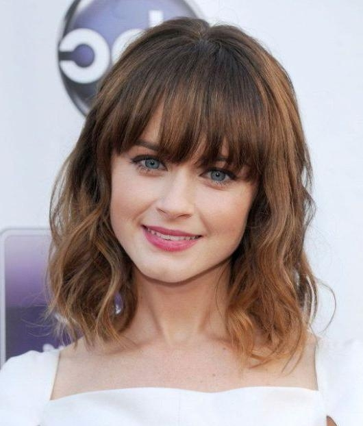 Best And Newest Best Long Hairstyles With Bangs For Best 25+ Medium Hairstyles With Bangs Ideas On Pinterest | Side (View 20 of 20)