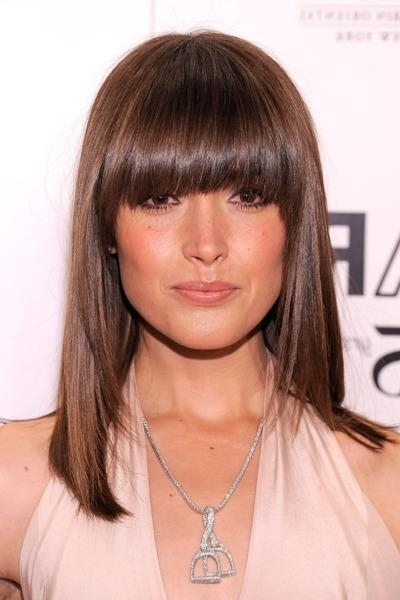 Best And Newest Full Fringe Long Hairstyles With Bang Haircuts With An Oval Face – Hair World Magazine (View 5 of 20)