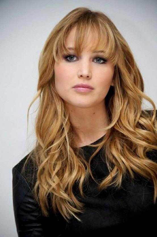Best And Newest Jennifer Lawrence Long Hairstyles Regarding 25+ Unique Jennifer Lawrence Bangs Ideas On Pinterest | Beauty (View 5 of 20)