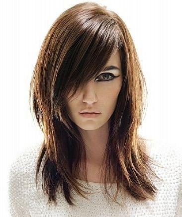 Best And Newest Long Haircuts With Bangs And Layers For Round Faces Regarding Hair Color Trends 2017/ 2018 – Highlights : Long Straight Layered (View 5 of 15)